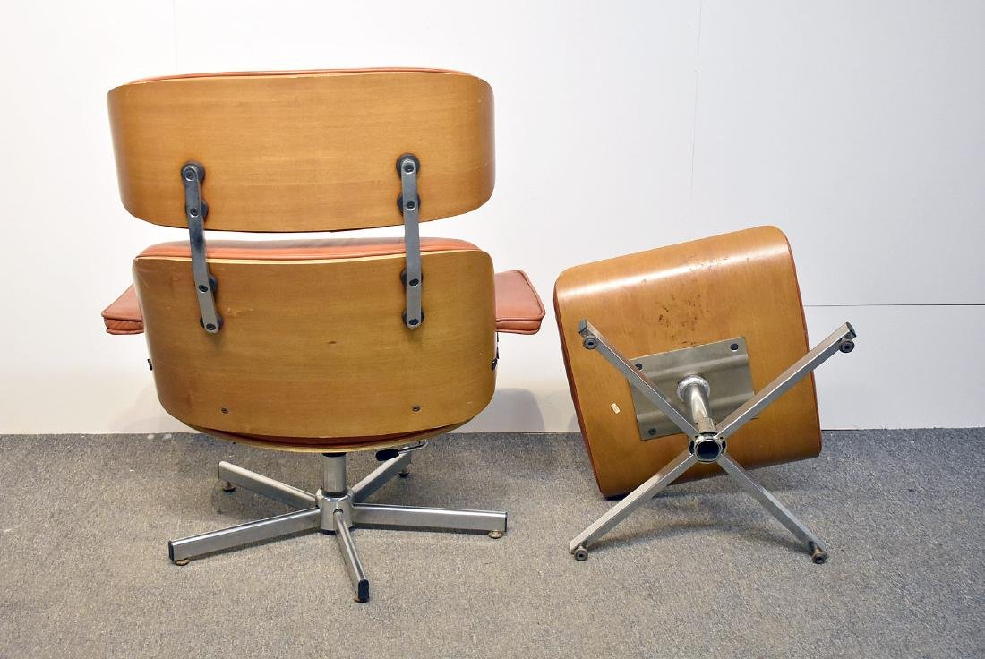 Eames-Style Lounge Chair and Ottoman - 3