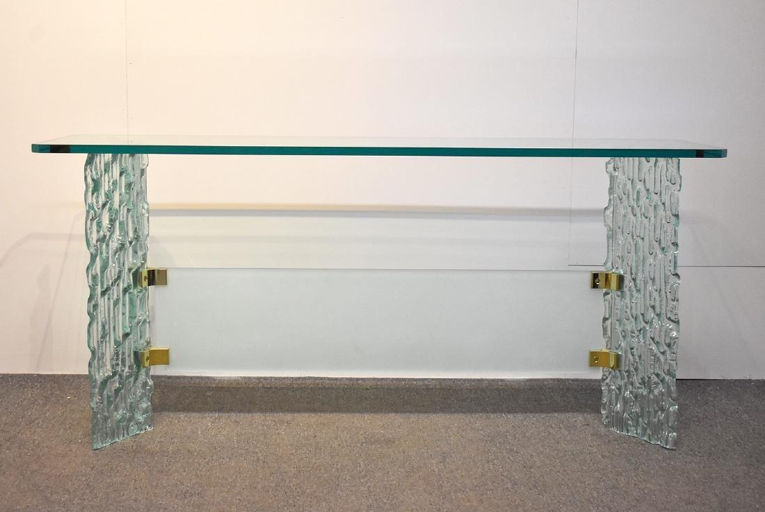 Decorator Glass Console Table