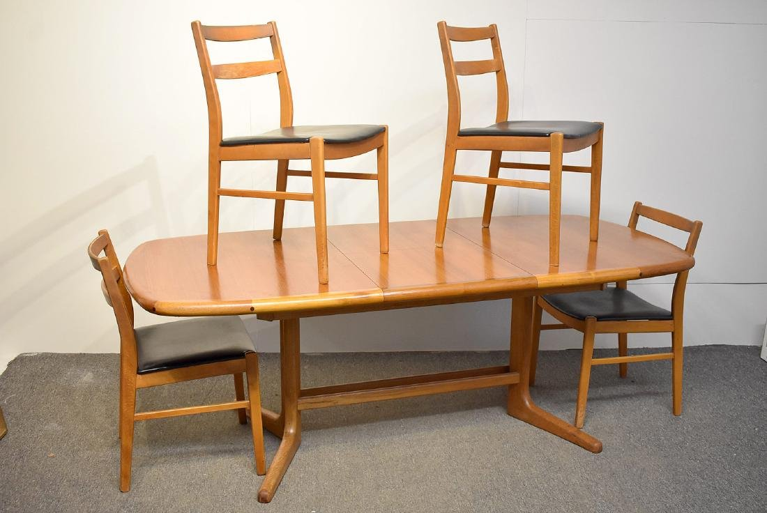 Danish Teak Extension Table and Four Chairs