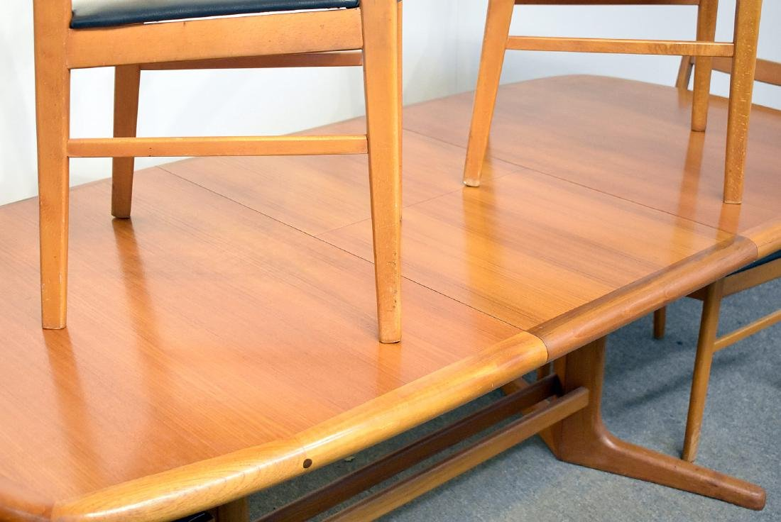 Danish Teak Extension Table and Four Chairs - 2