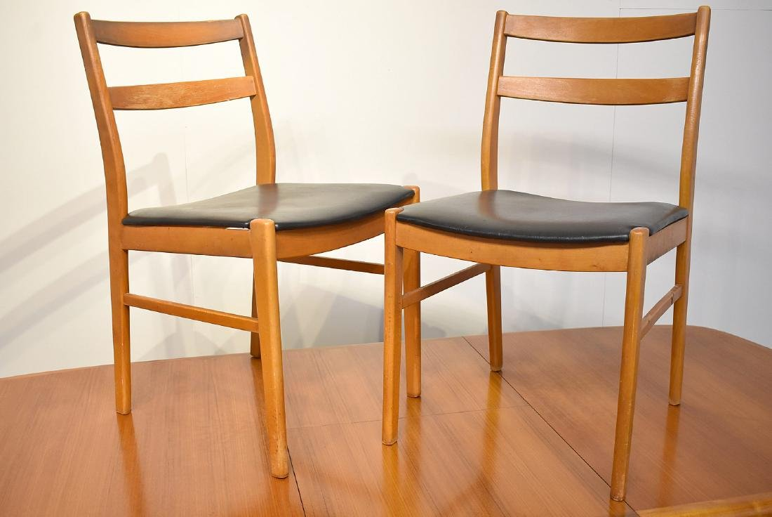 Danish Teak Extension Table and Four Chairs - 3