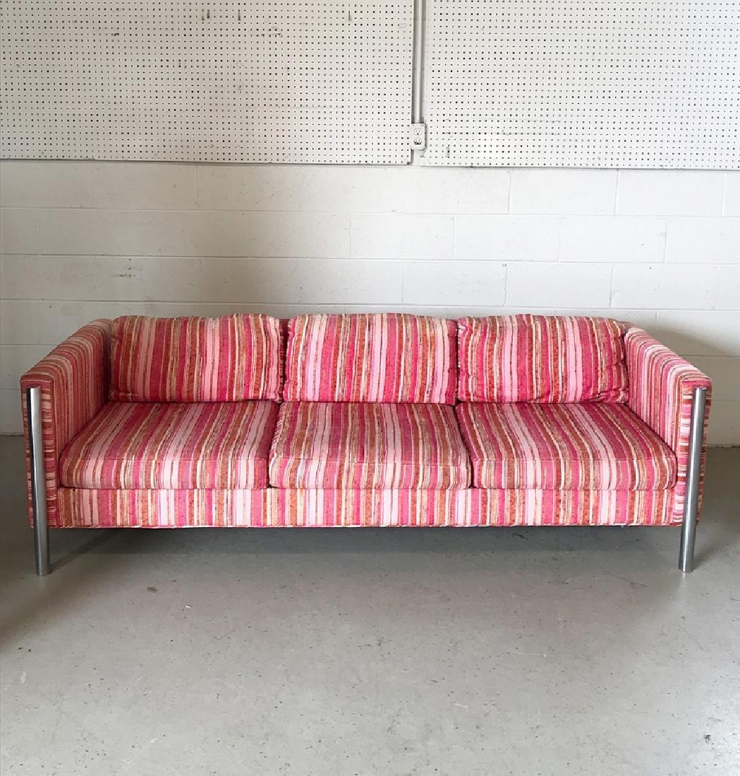 Selig Chrome Modernist Sofa