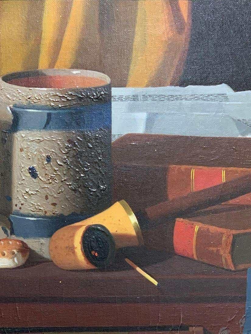 John. F. Peto. Oil/Canvas, Crumb of Comfort