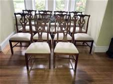 10 Ethan Allen Chippendale Style Dining Chairs
