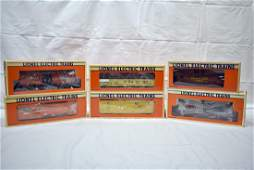 Six Lionel Freight Cars with original boxes