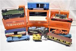 Ten Lionel Freight Cars with original boxes