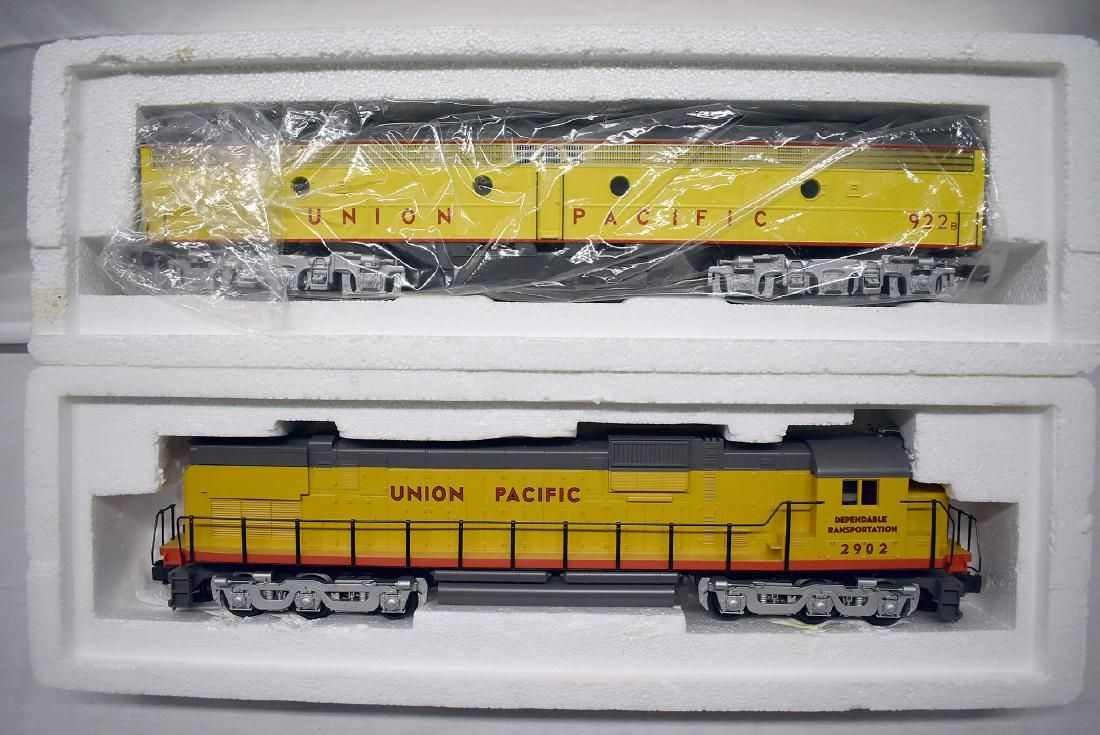 Two Weaver Union Pacific Diesel Engines