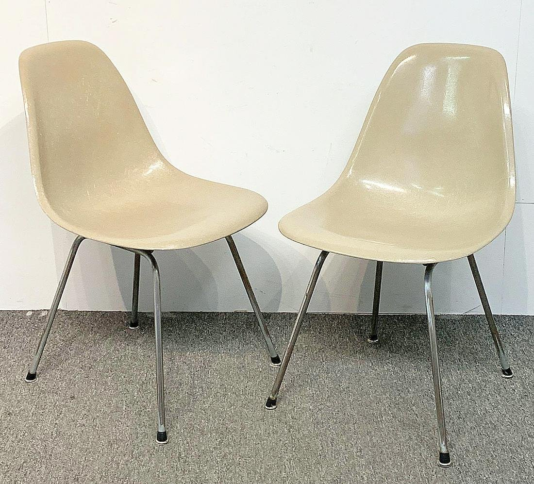 Two Charles & Ray Eames Shell Chairs