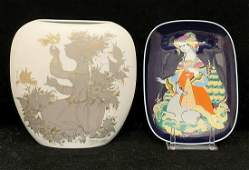 Bjorn Winblad Rosenthal Vase and Plate