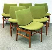 Six Finn Juhl Bo-116 Dining Chairs