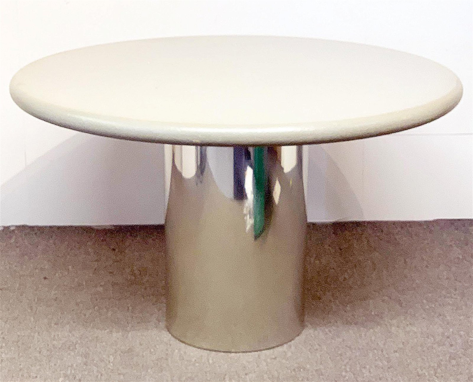Karl Springer-style Pedestal Dining Table