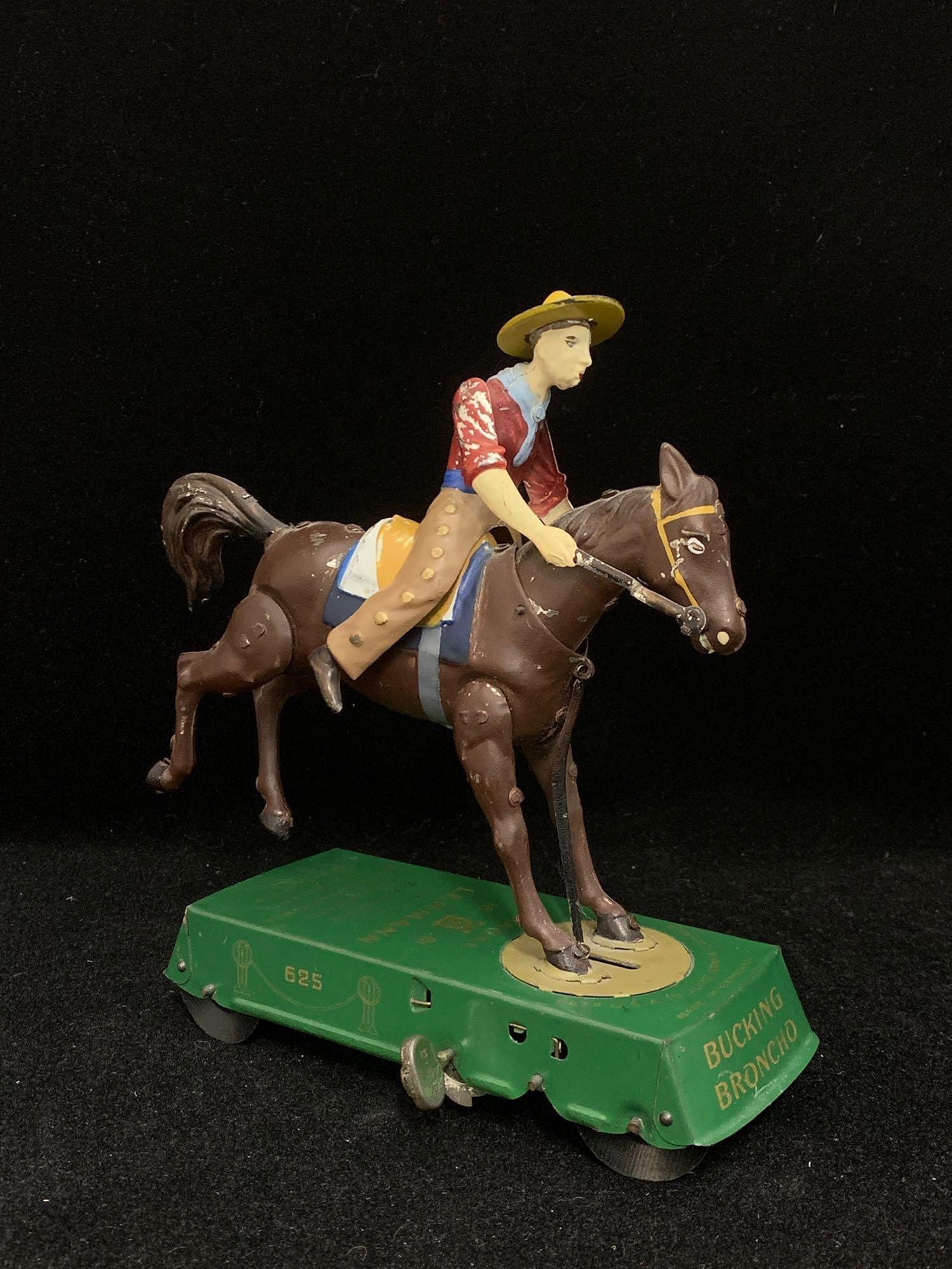 Lehmann Bucking Broncho Tin Toy