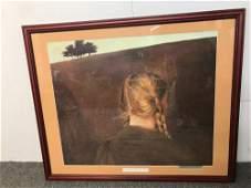 Signed Andrew Wyeth Print Farm Road