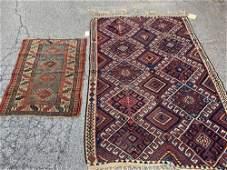 Kilim Area Carpet and Caucasian Mat