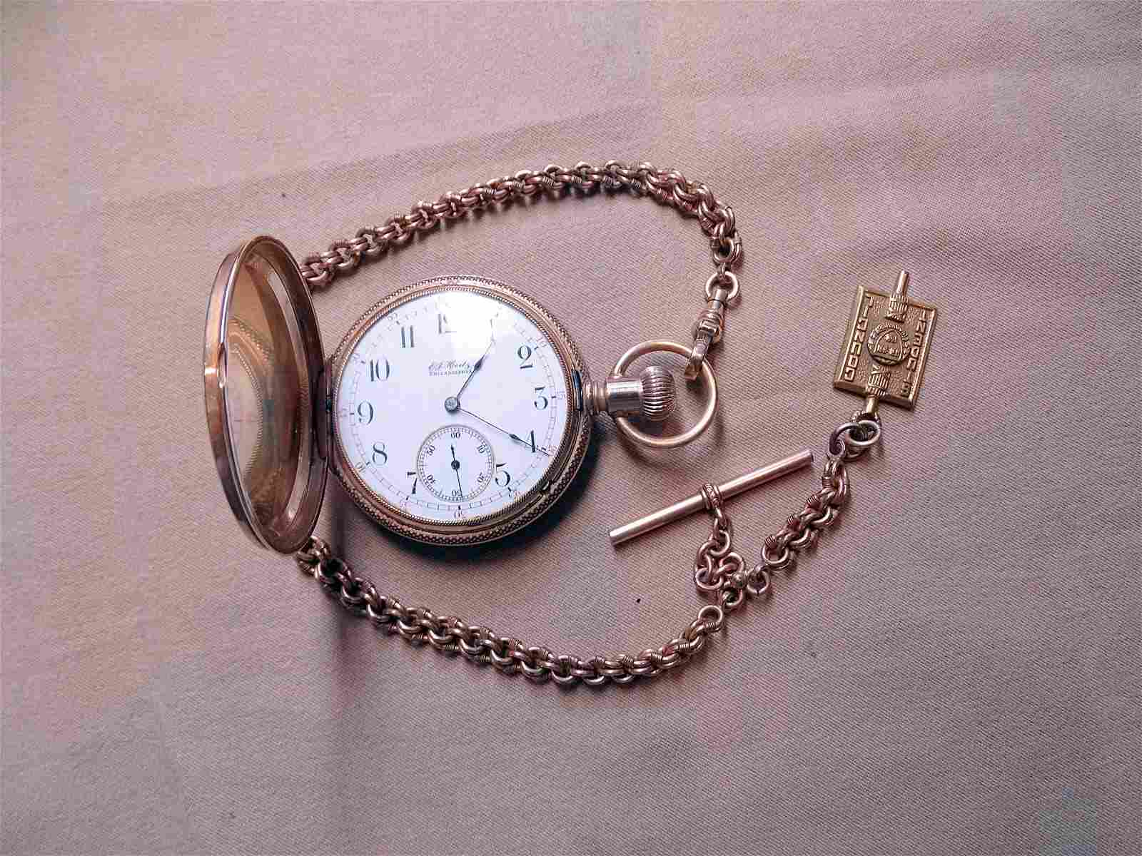 Man's 14K Gold Hertz Pocket Watch