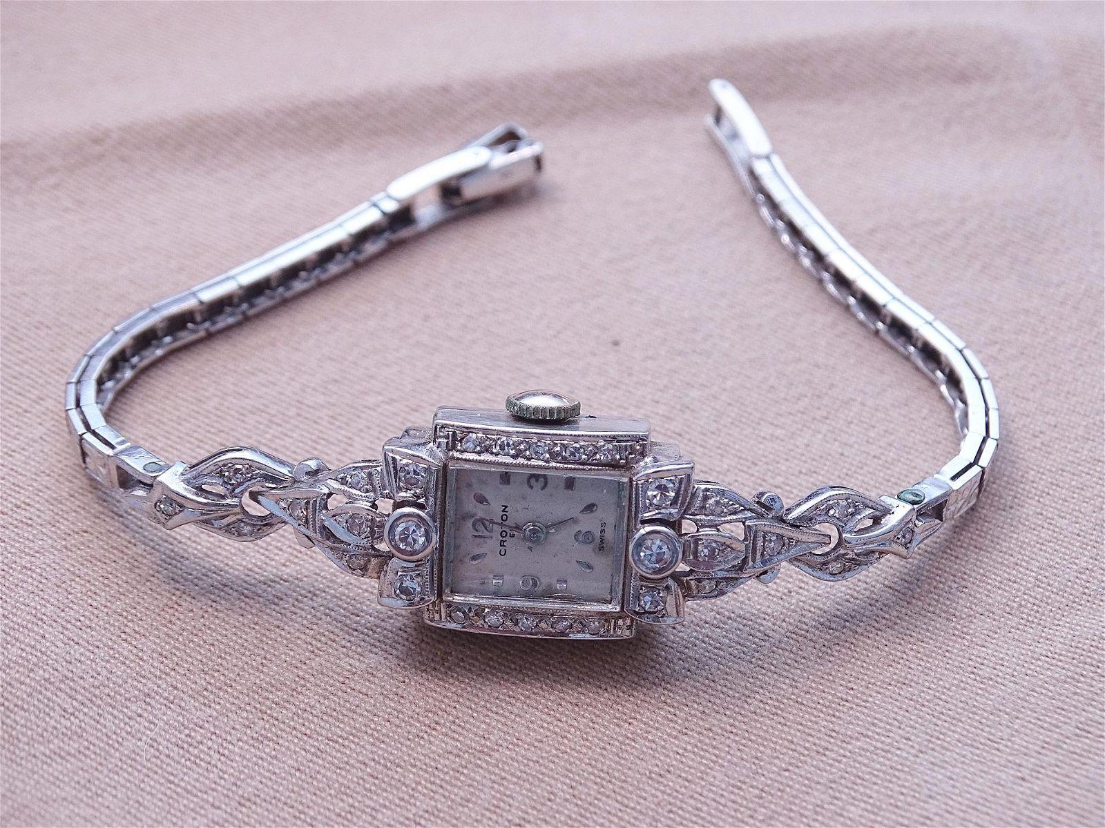 Ladies Diamond Encrusted Wristwatch