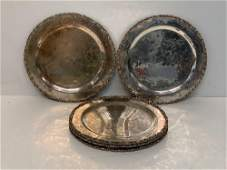 Seven Mexican Sterling Silver Plates