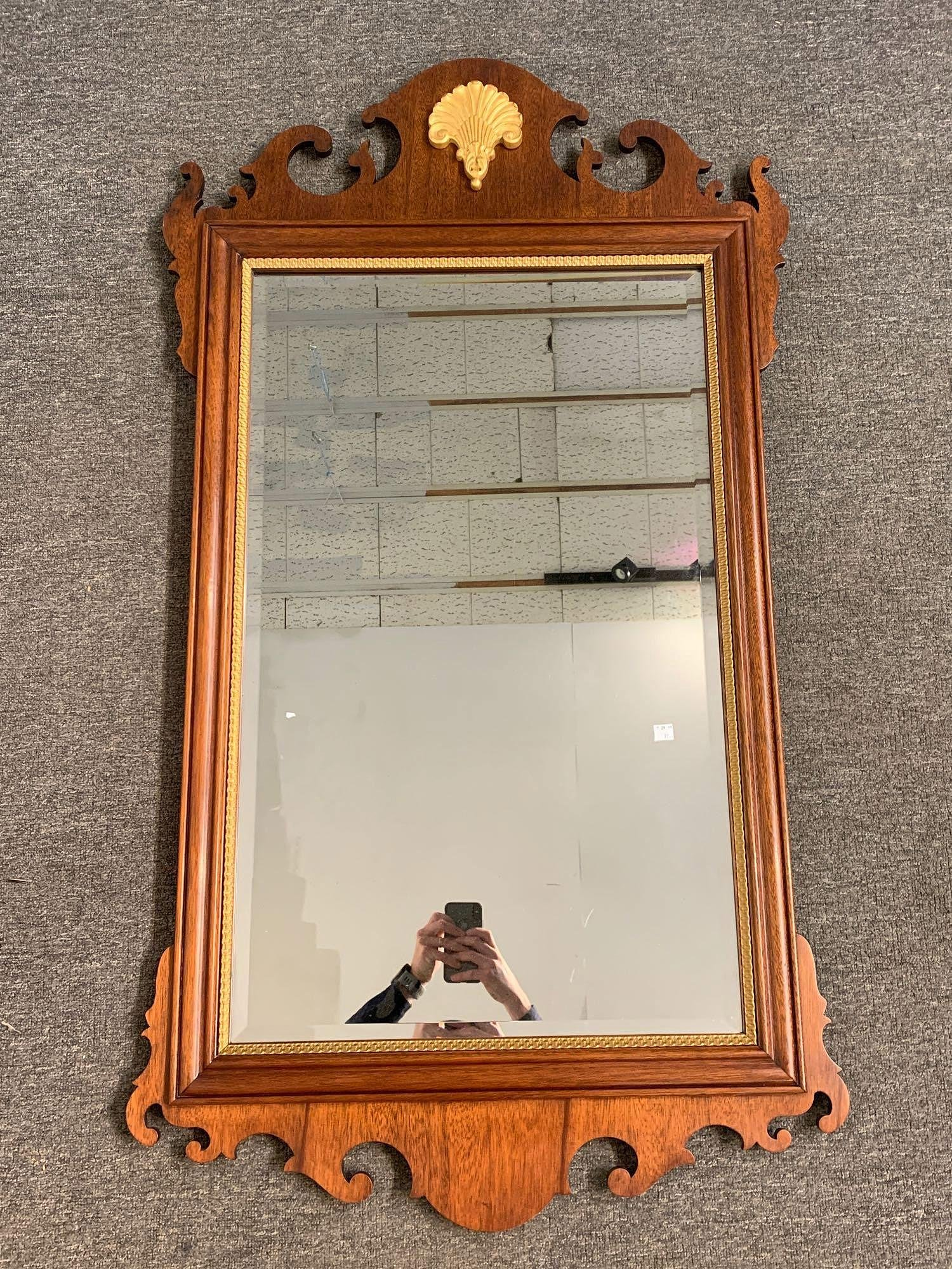 Councill Chippendale-style Mahogany Mirror