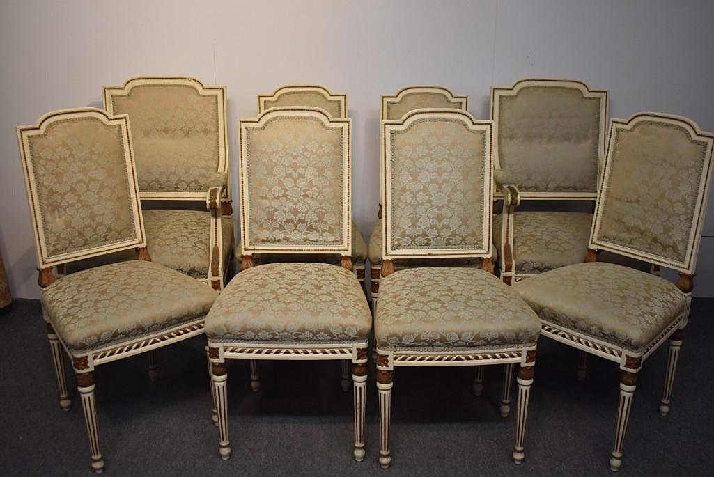 Louis XVI-style Dining Room Table and 14 Chairs