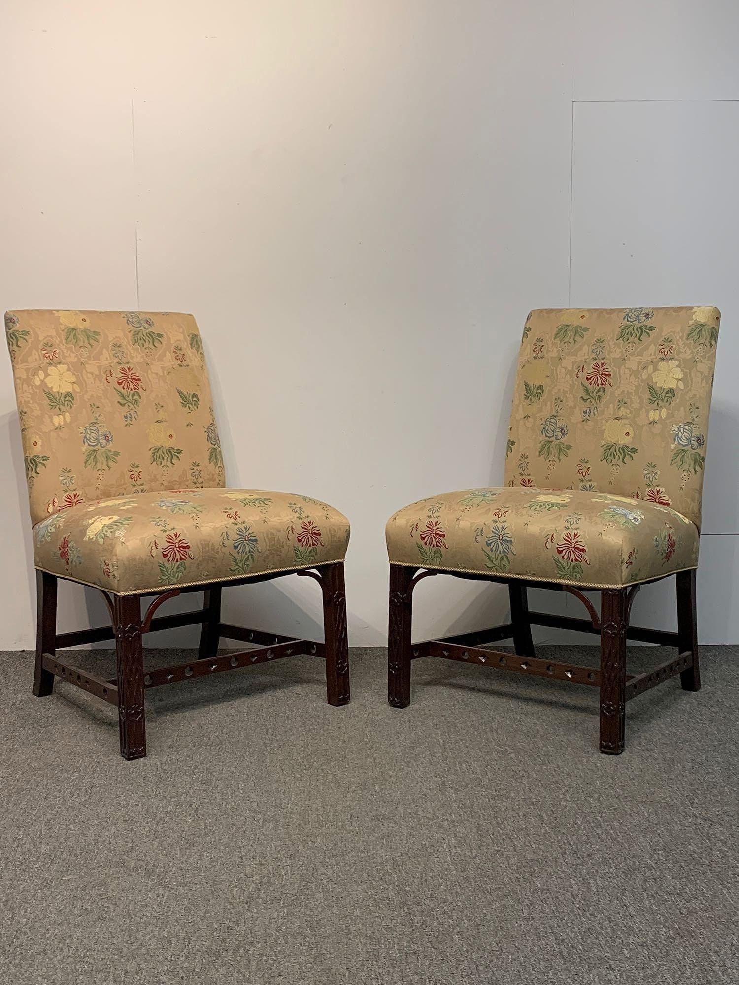 Pair of Georgian Style Mahogany Side Chairs
