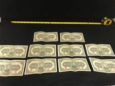 10 Central Reserve Bank of China Notes 5000 Yuan