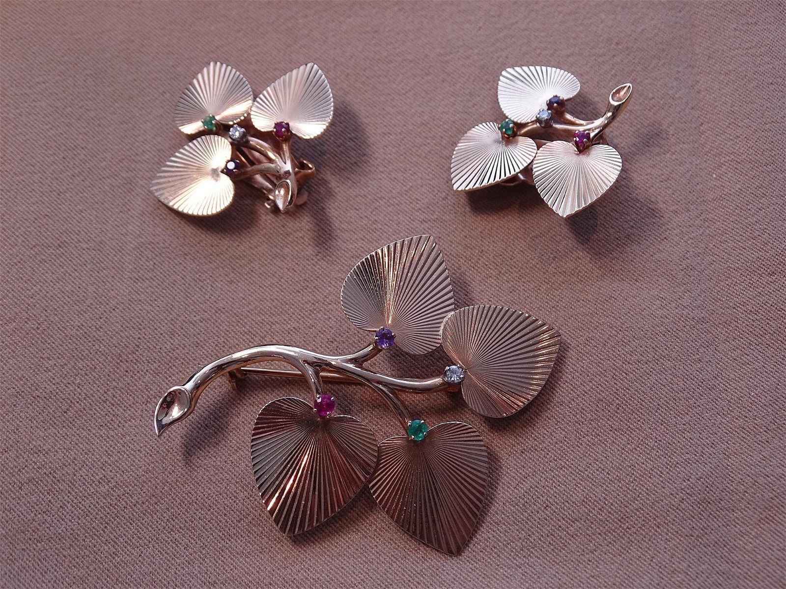 Tiffany & Co. Brooch & Earrings