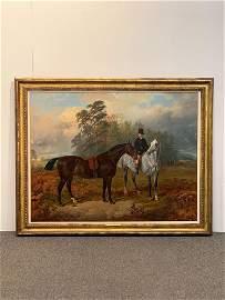 James Walsham Baldock Oil on Canvas. Equestrian