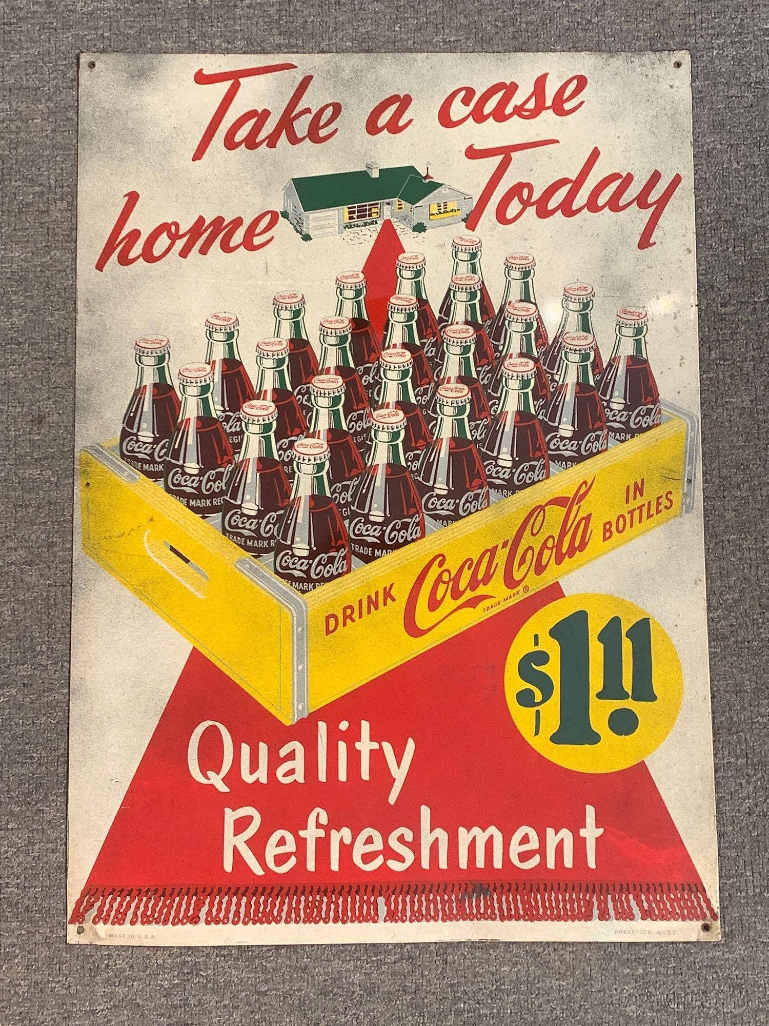 Coca-Cola Take A Case Home Today Tin Sign