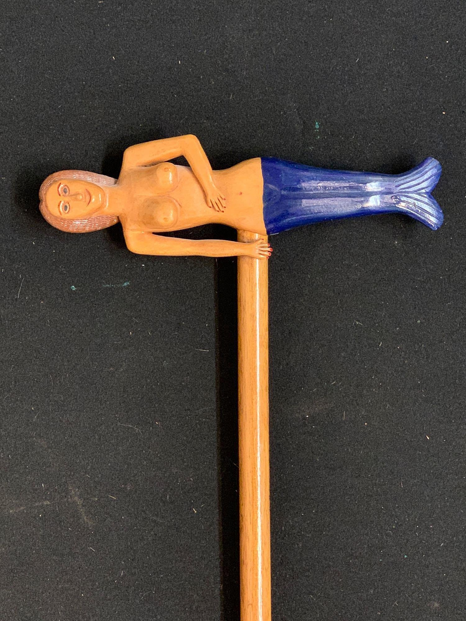 Ralph Buckwalter Mermaid Walking Cane