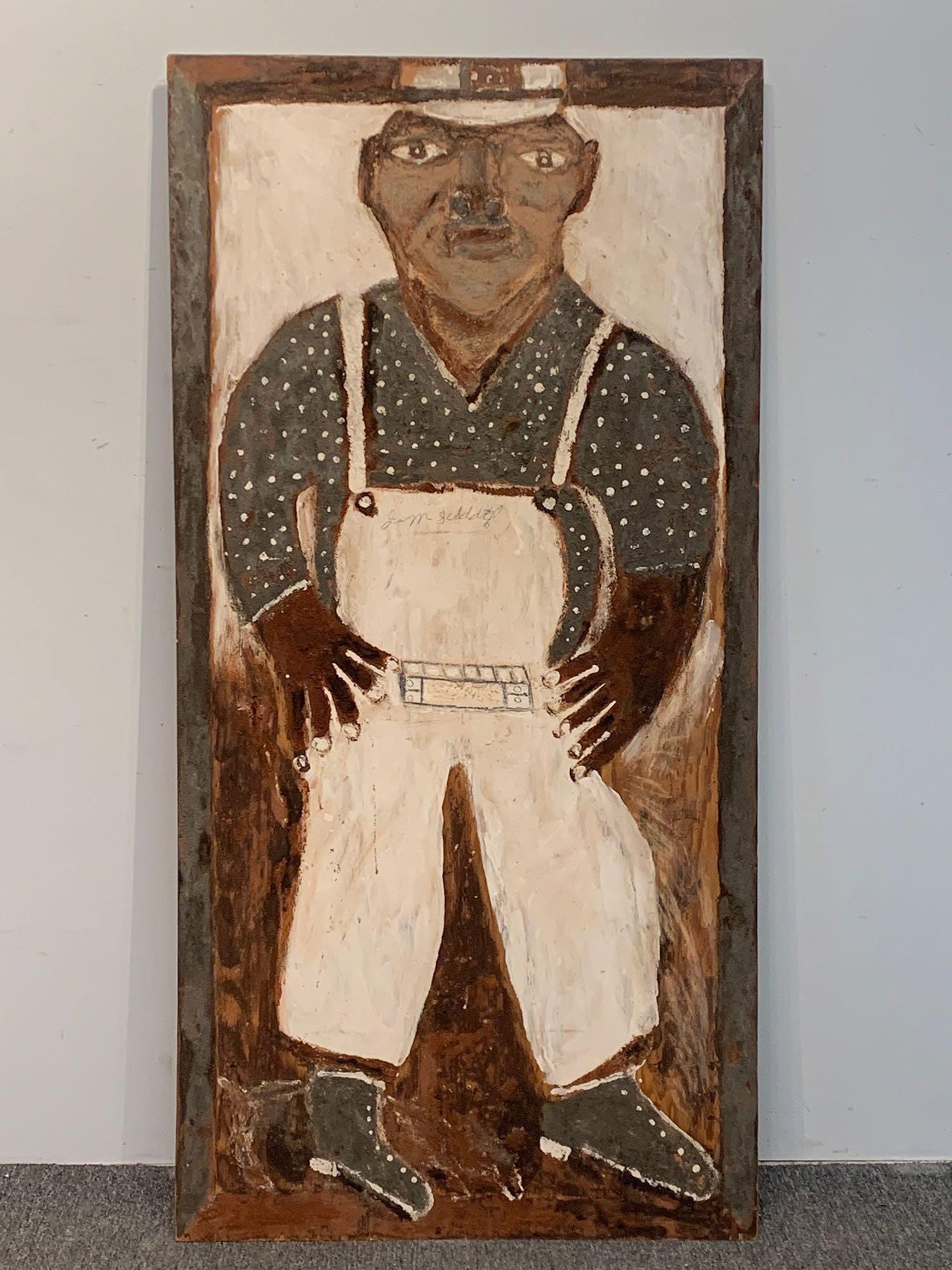 Jimmy Lee Sudduth. Mud & Paint, Self-Portrait