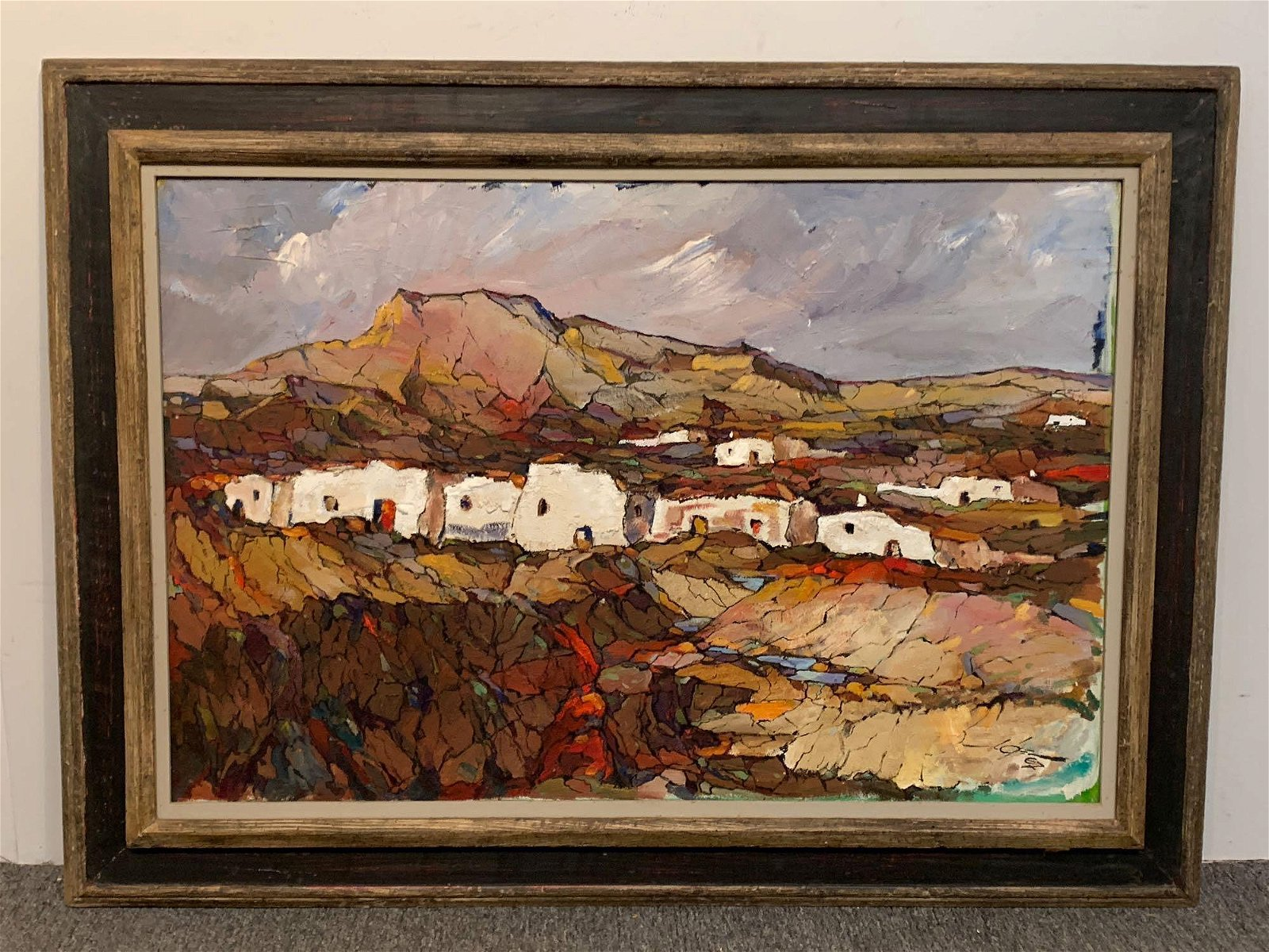 Oil on Canvas, Southwestern Pueblo