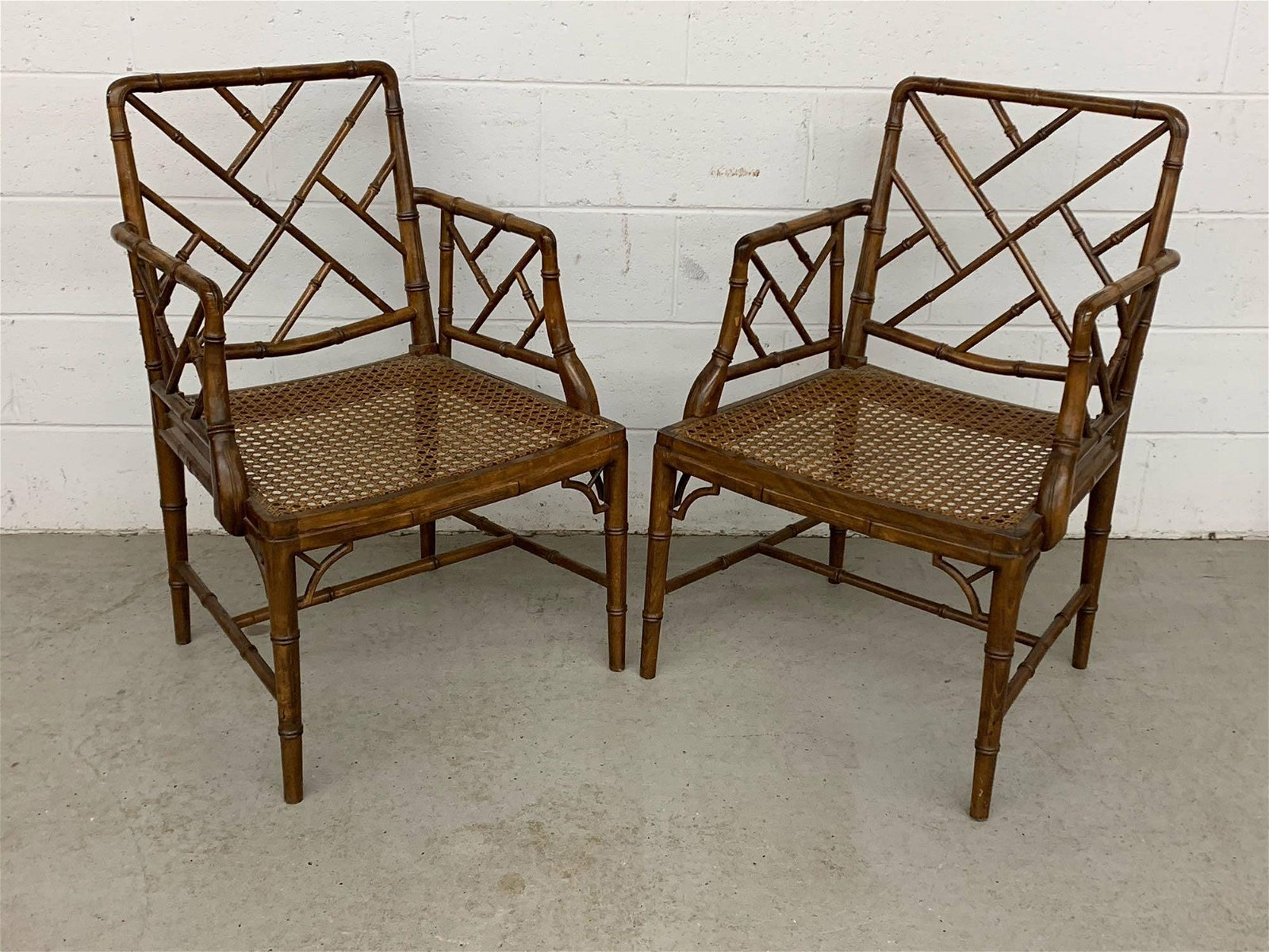 Pair Of Chinese Chippendale-style Armchairs