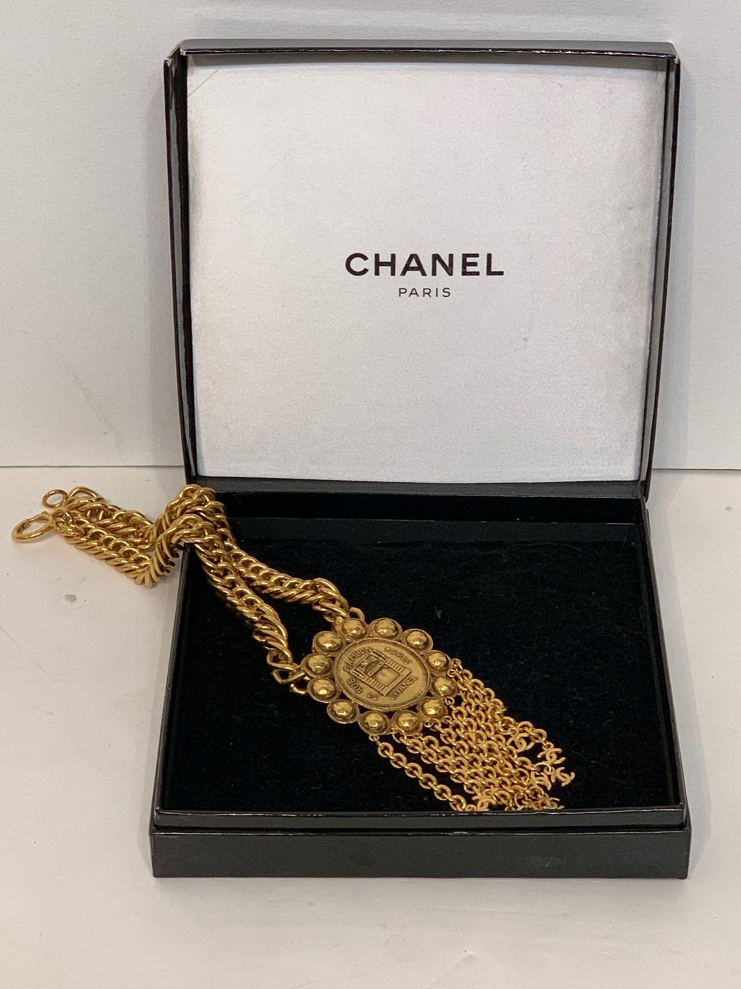 Chanel France Rue Cambon Paris Necklace