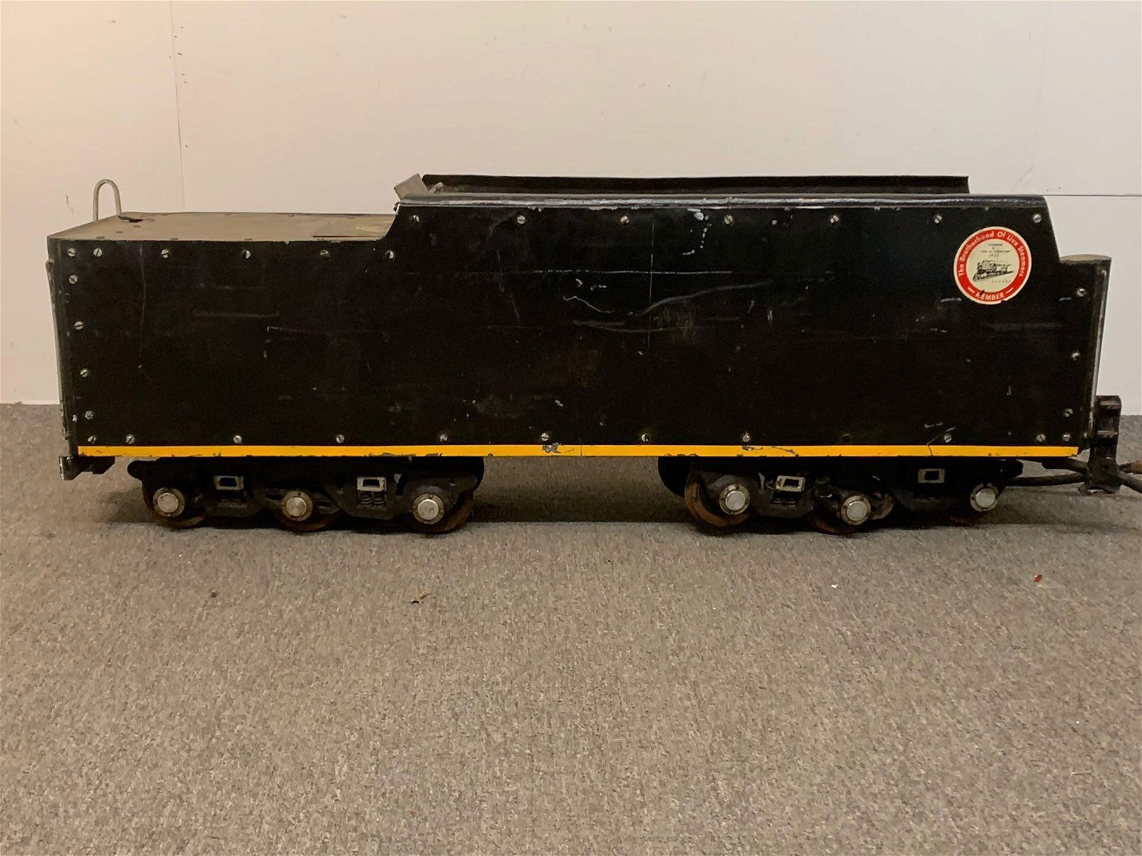 Live Steam Model Train Tender