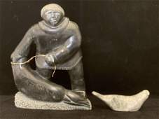 Two Carved Inuit Sculptures