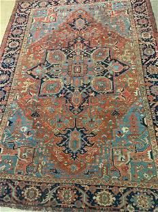 Heriz Room-size Carpet, 13ft 8in x 9ft 10in