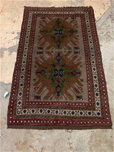Kazak Caucasian Area Carpet, 8ft 9in x 5ft 4in