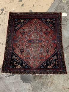 Persian Sarouk Mat, 3ft 11in x 3ft 4in
