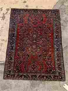 Persian Sarouk Mat, 4ft 9in x 3ft 4in