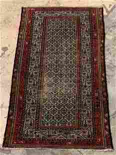 Persian Throw Carpet, 6ft 2in x 3ft 5in