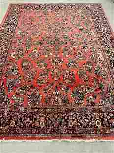 Sarouk Room Size Carpet, 9ft x 12ft