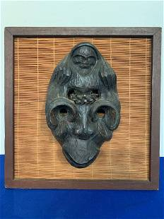 Oakframed Haitian Handcarved Festival Mask