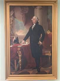 After Gilbert Stuart. Oil/Canvas, G. Washington