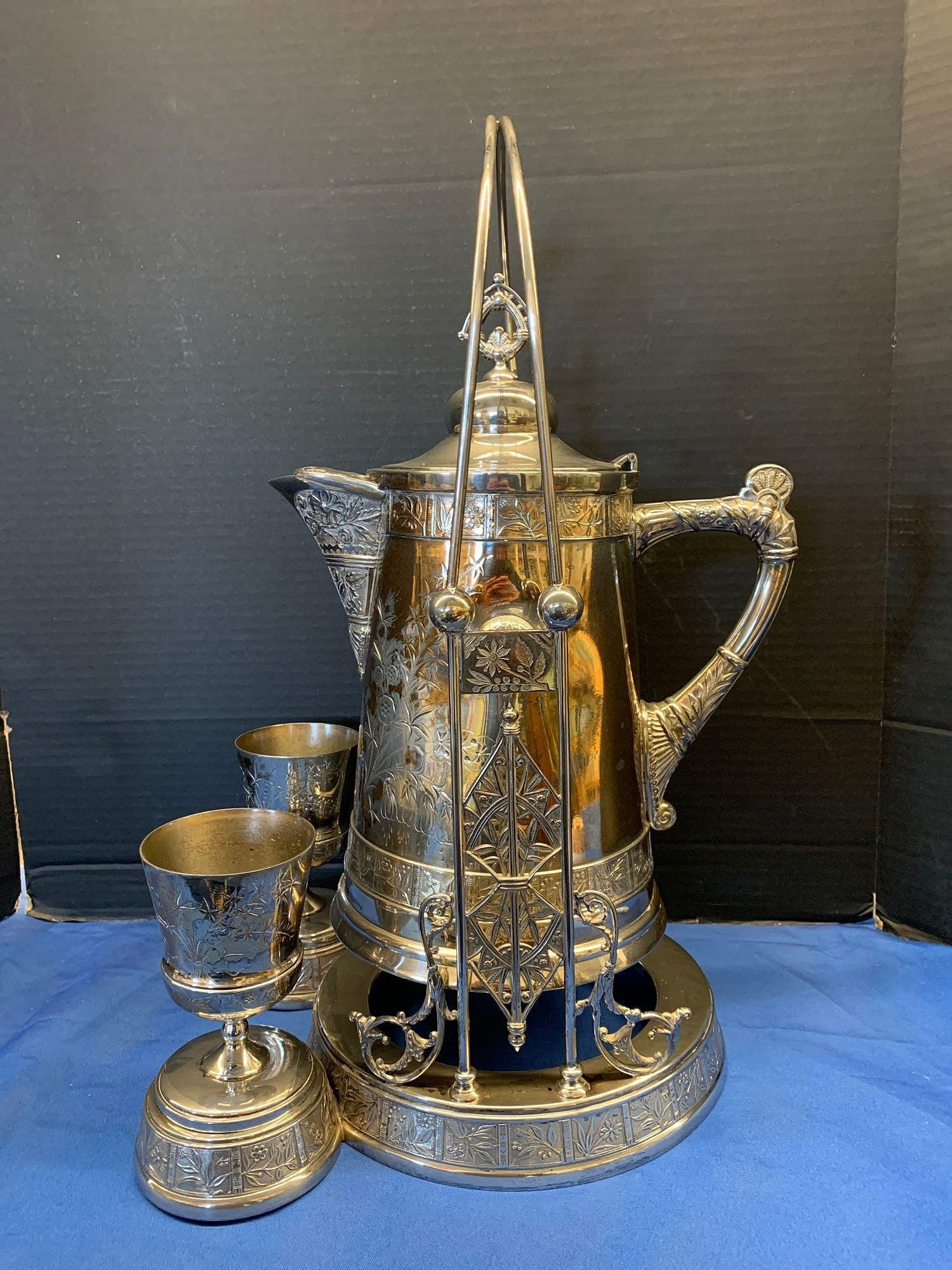 Pairpoint Victorian Silverplate Water Pitcher