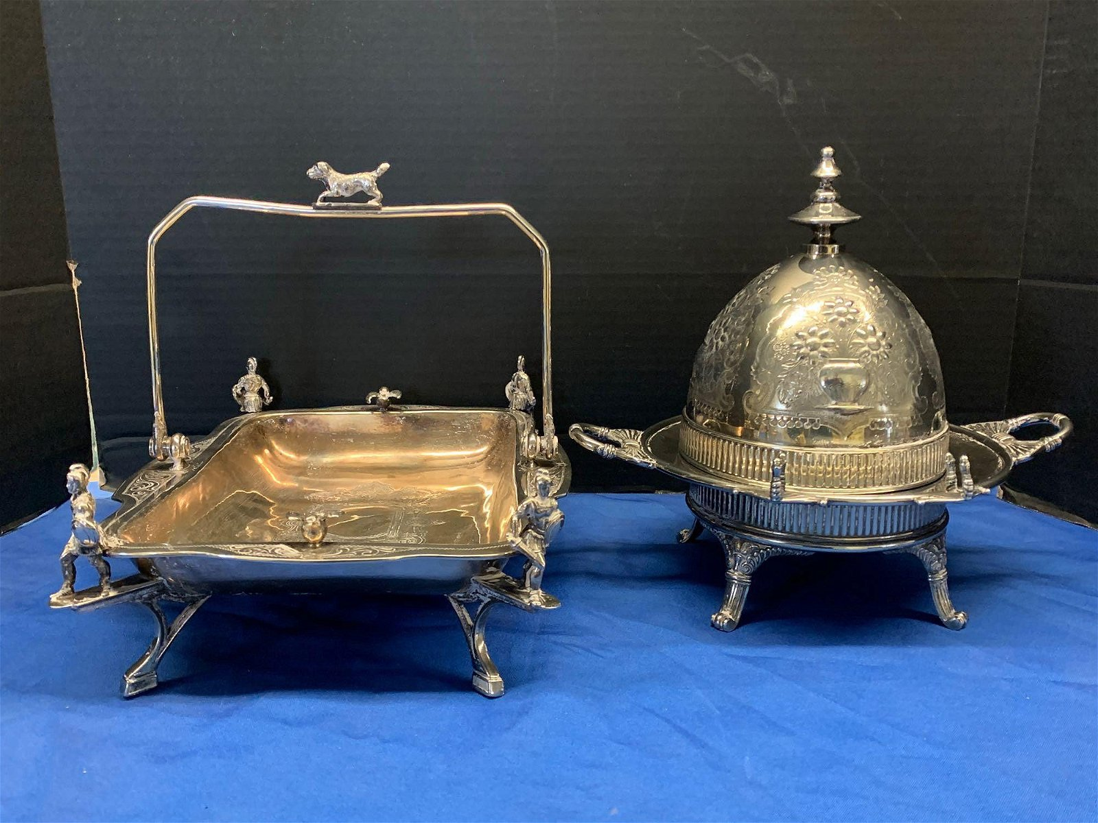 Victorian Silverplate Basket & Butter Server