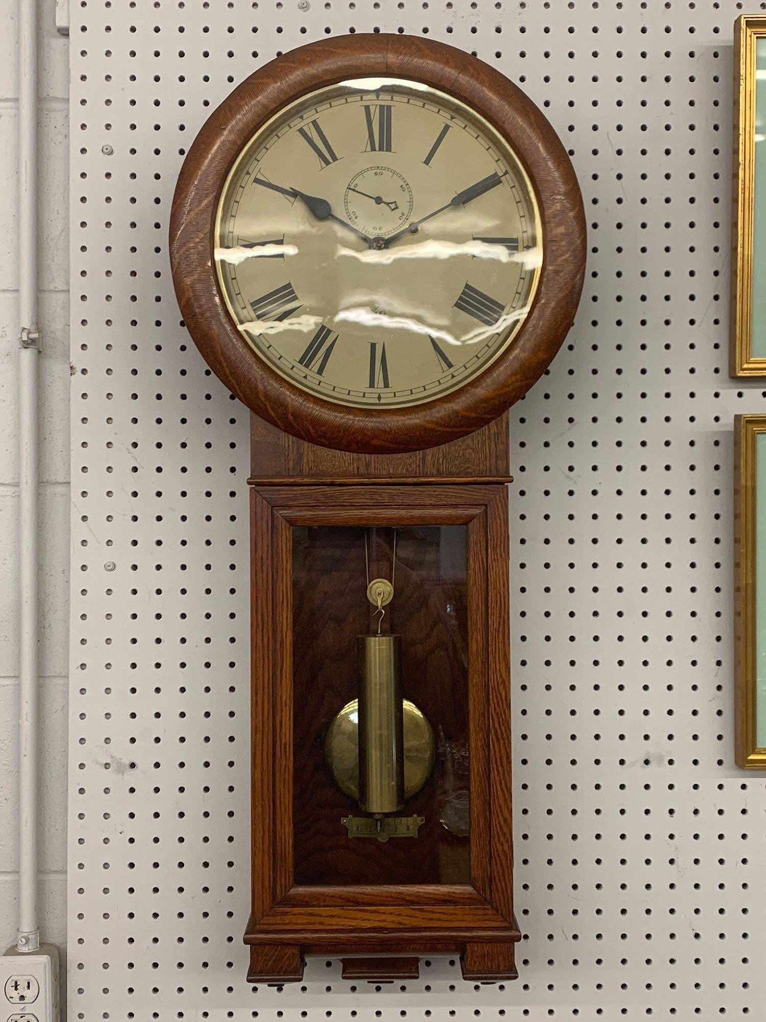 Seth Thomas Oak Case Regulator Clock