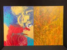 Two Zelda Edelson Abstract Paintings