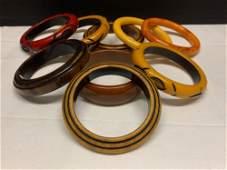 Nine Bakelite Bangle Bracelets