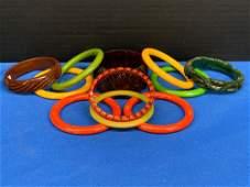 Eleven Bakelite Bangle Bracelets
