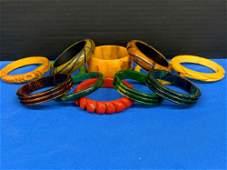 Twelve Bakelite Bangle Bracelets